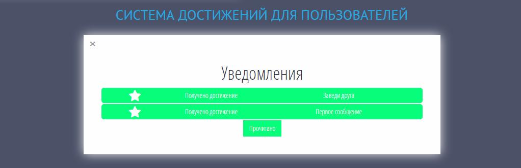 Достижения пользователя