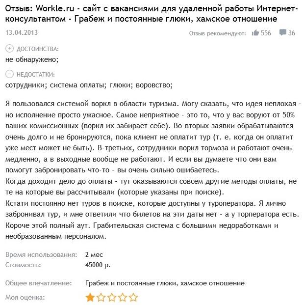Workle.ru отзывы