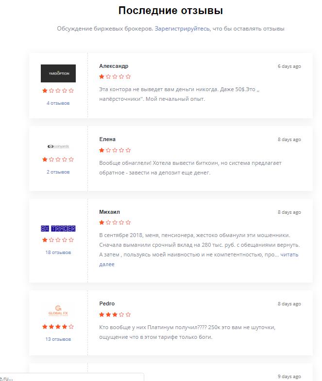 Отзывы для рейтинга