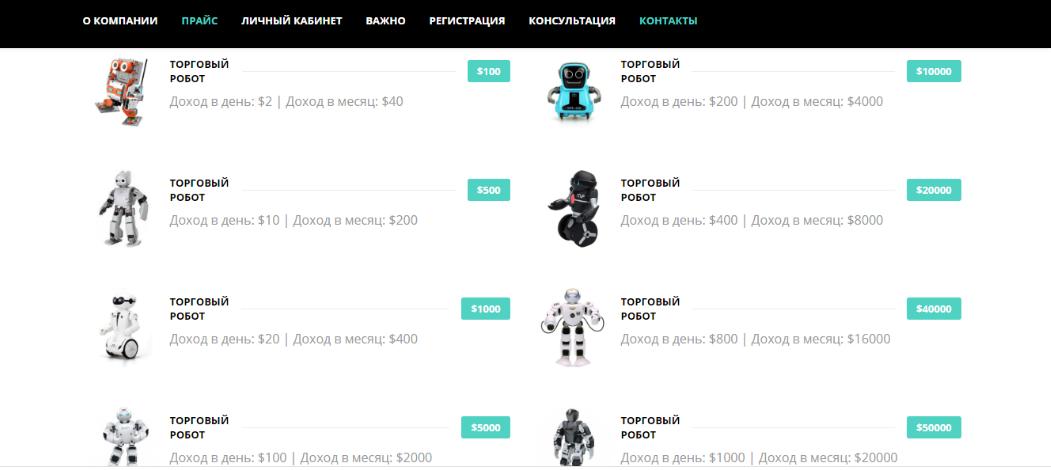 Виды торговых роботов