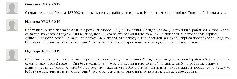 Отзывы о Центре Финансовых Решений