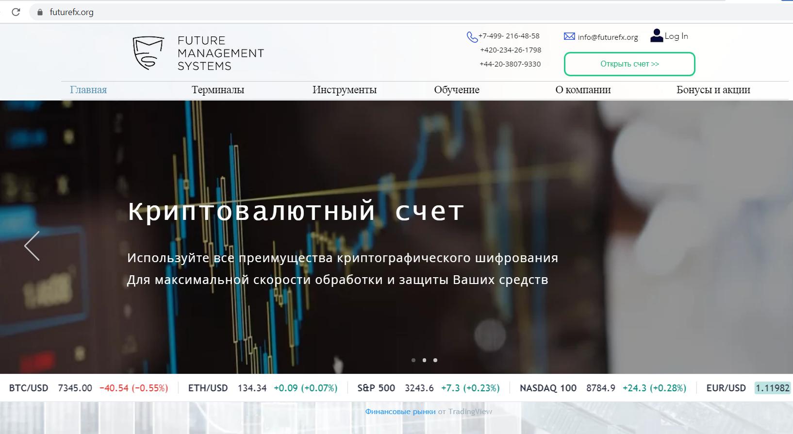 Сайт futurefx.org