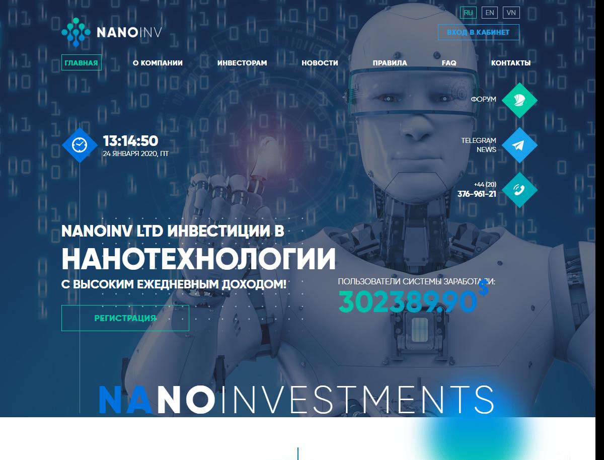 Сайт nanoinv.com