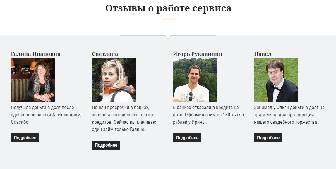Отзывы на сайте zaimodateli.com