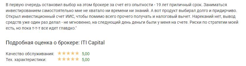 ITI Capital отзывы
