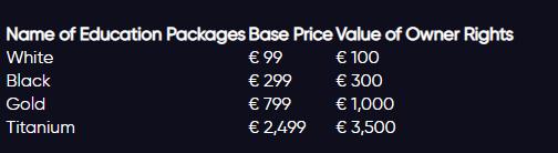 Стоимость курсов