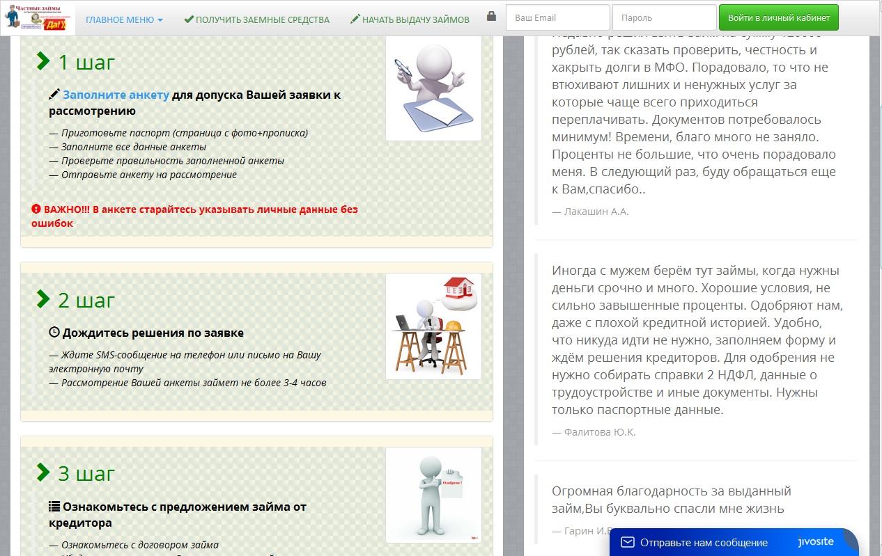 Megazaim24 схема работы