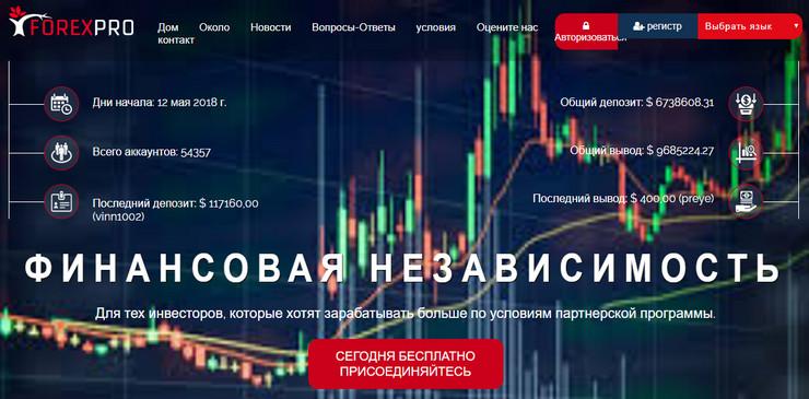 Главная страница forexpro.ltd