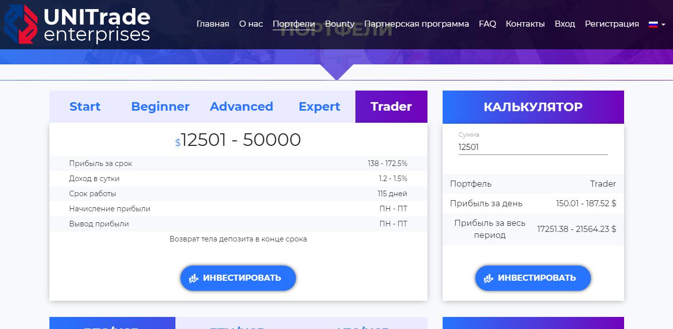 Портфель Trader