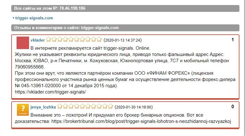 Ttrigger-signals отзывы