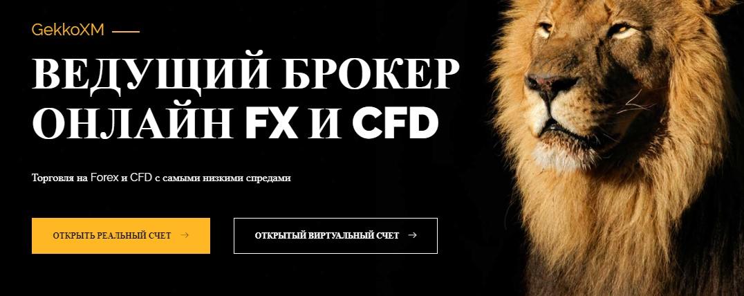 Главный интерфейс GekkoXM.com