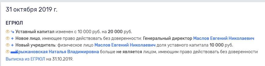 """Данные о владельце """"Кредит Эксперт"""""""