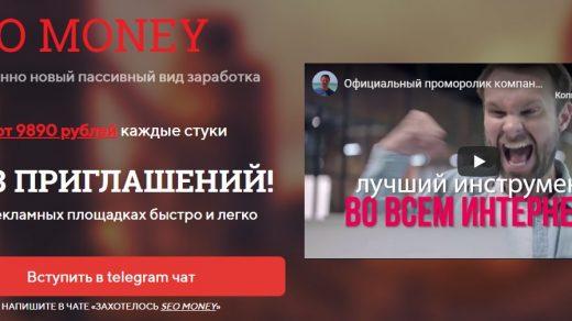 Главная страница сайта seomoneys.ru