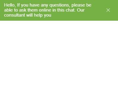 На сайте реализован чат для связи с техподдержкой