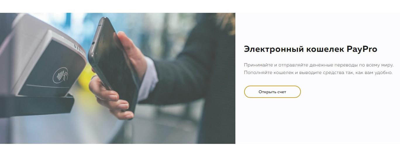 Счет в PayPro