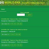 Главная страница сайта World-fan.ru