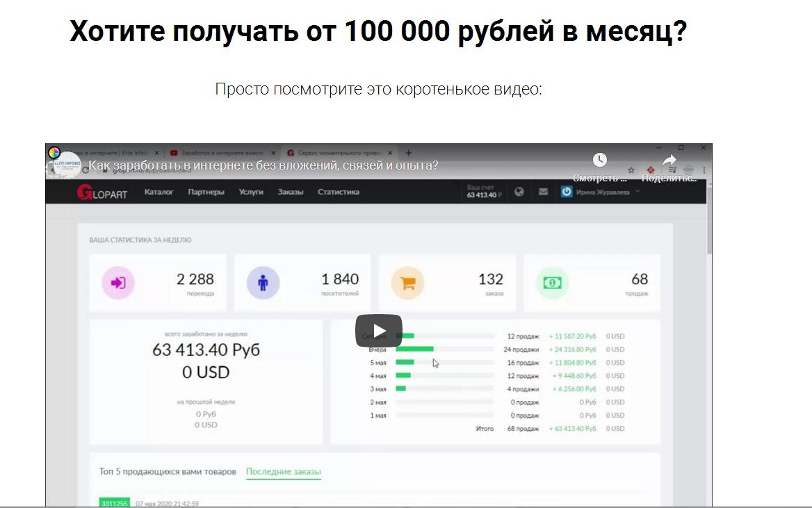 Сайт проекта Elite Infobiz