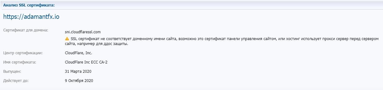 Анализ сертификата