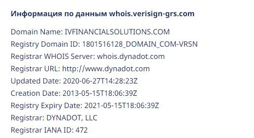 Доменное имя проекта IVFinancialSolution