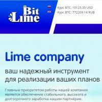 Главная страница сайта BitLime