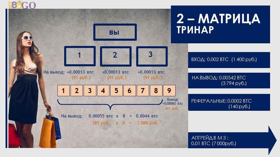 Покупка матрицы высокого уровня на сайте BitBlago