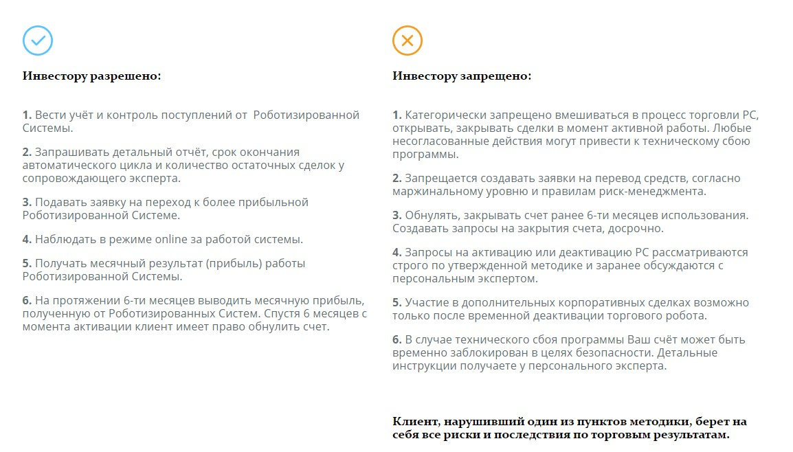 Правила проекта IVFinancialSolution