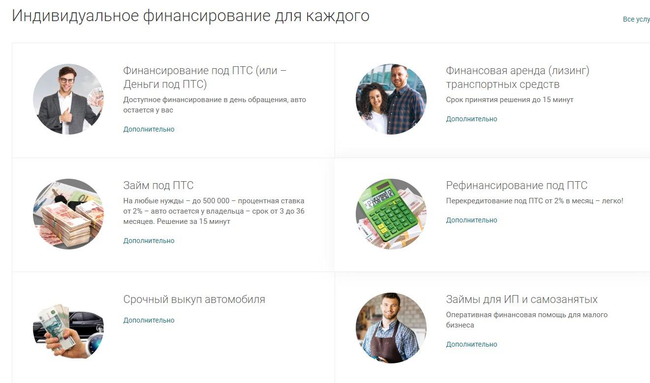 Услуги компании «Ваш финансовый партнер»
