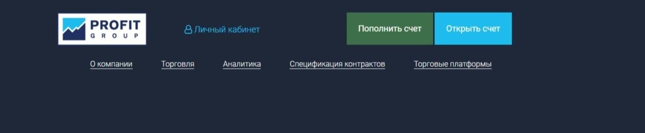 Главная страница сайта PROFIT GROUP