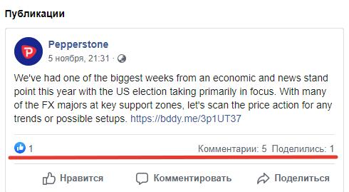 Посты на Фейсбуке