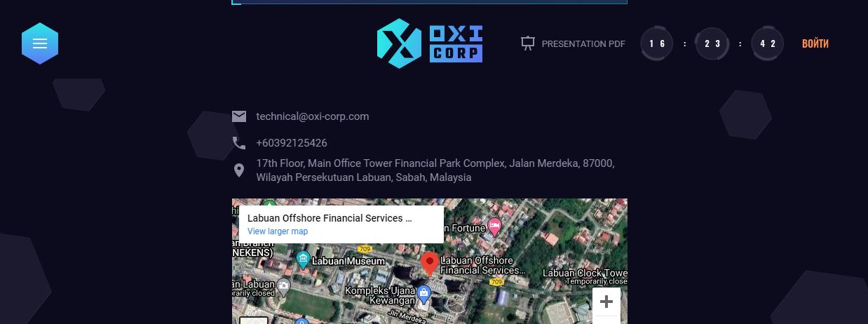 Контакты Oxi Corporation