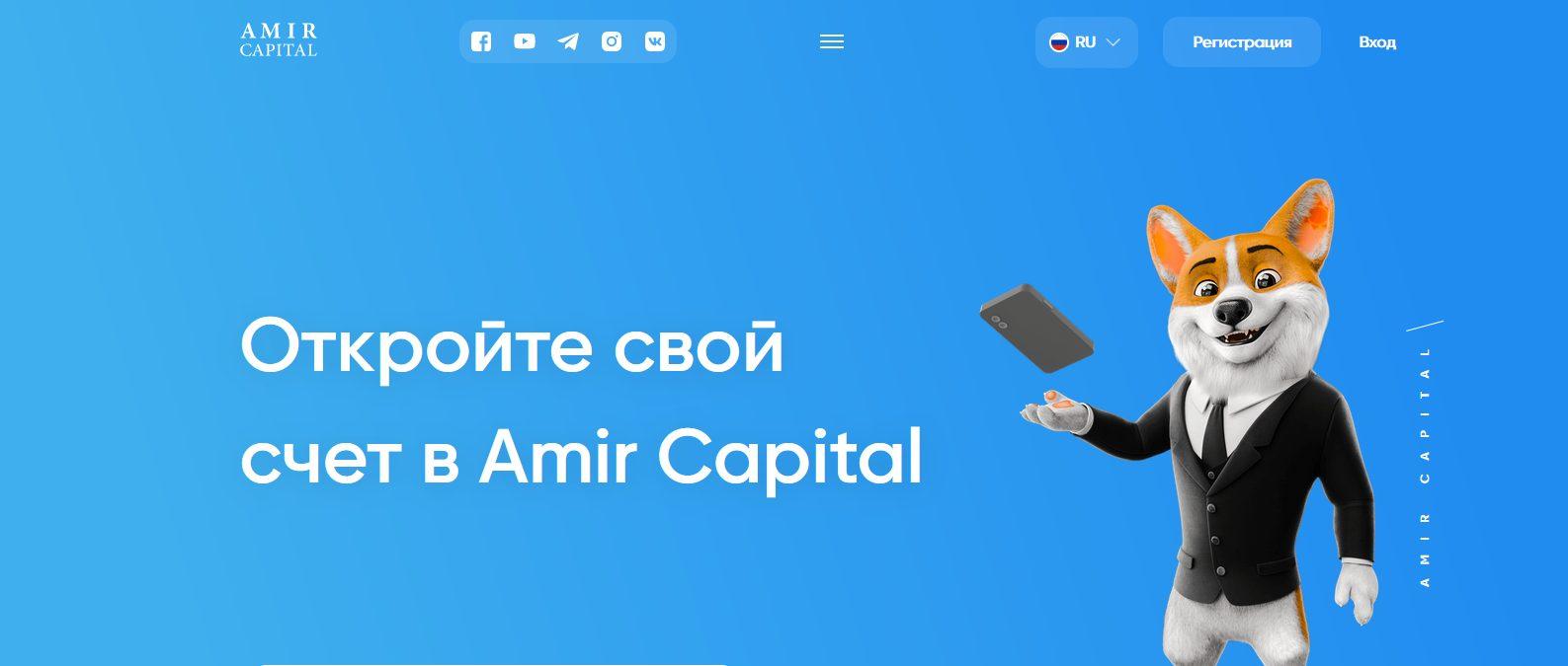 Собственный сайт – amir.capital