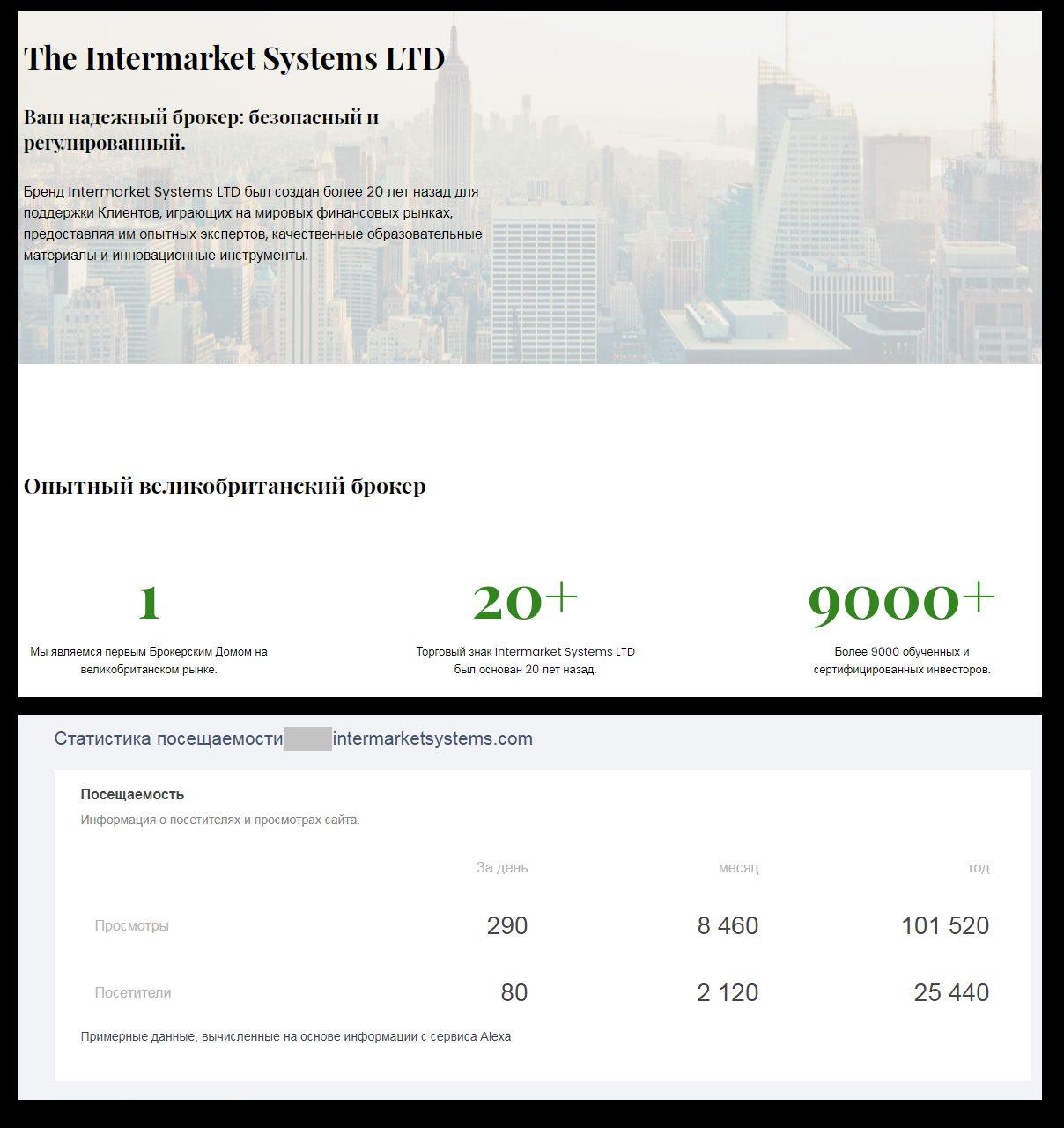 Годовая посещаемость сайта «брокерского дома №1» не превышает 30000 пользователей