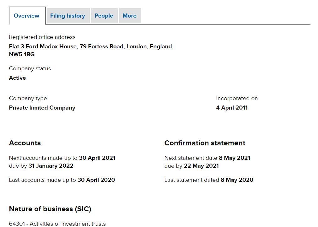 Компания была создана еще в апреле 2011 года