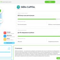 Отзывы о компании Gera Capital и ее описание
