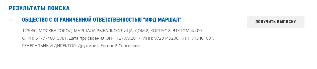 Проверка компании по ИНН