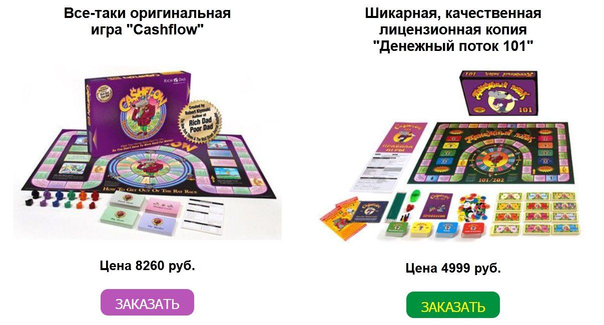 Сайт по продаже настольной игры