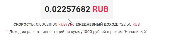 Минимальный вклад 1 тыс. руб