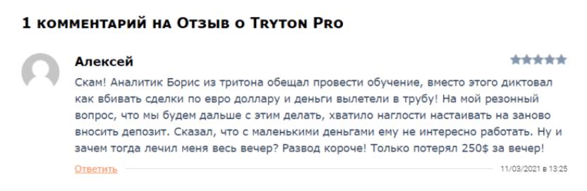 Отзыв о проекте Tryton