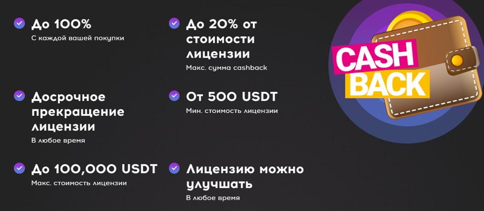 CashBack-лицензия