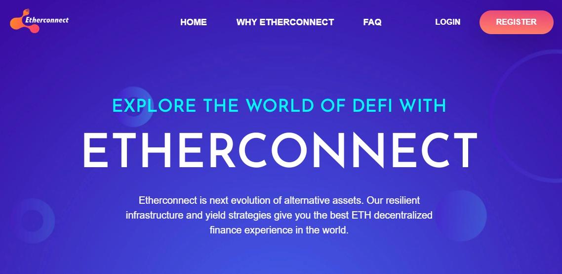 Etherconnect – стартап в интернете