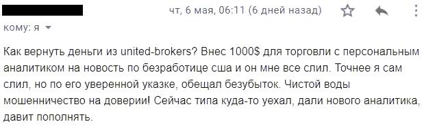 Отзывы о United Brokers