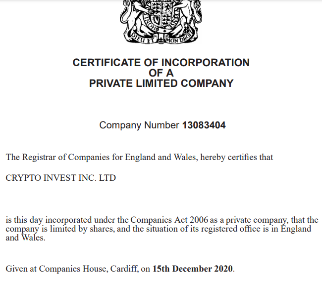 Фирма Crypto Invest