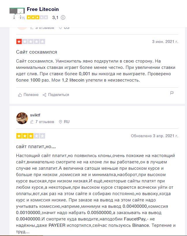 Мнения живых людей о Free litecoin com