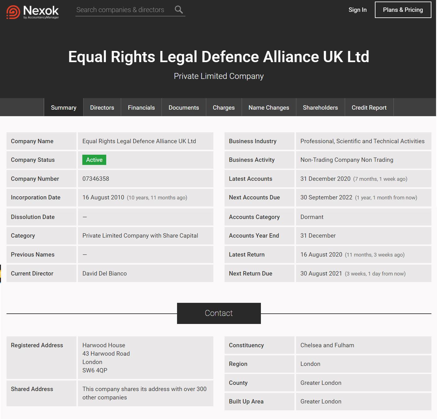Статус European Legal Alliance