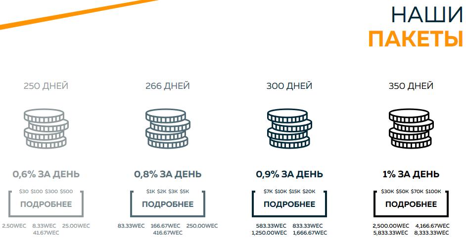 Пакеты Web token profit
